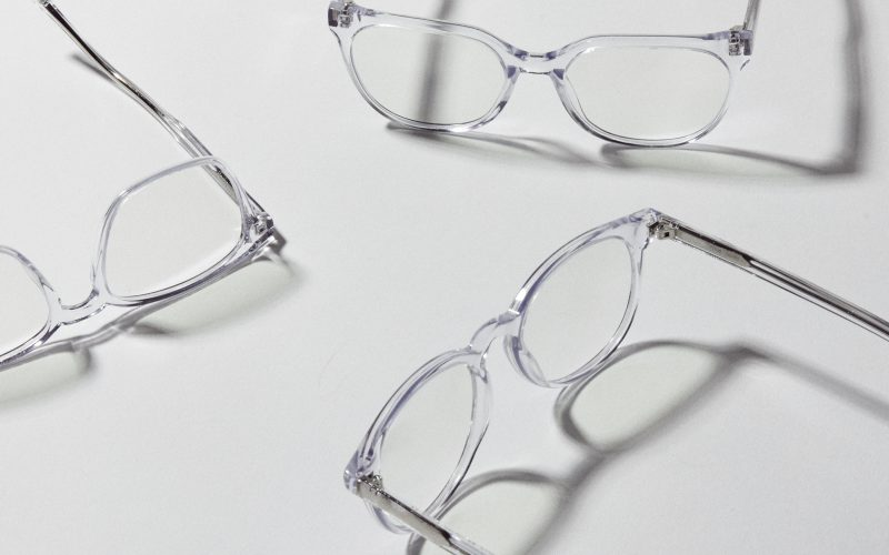 Three crystal clear Panorama Felix Gray eyeglasses