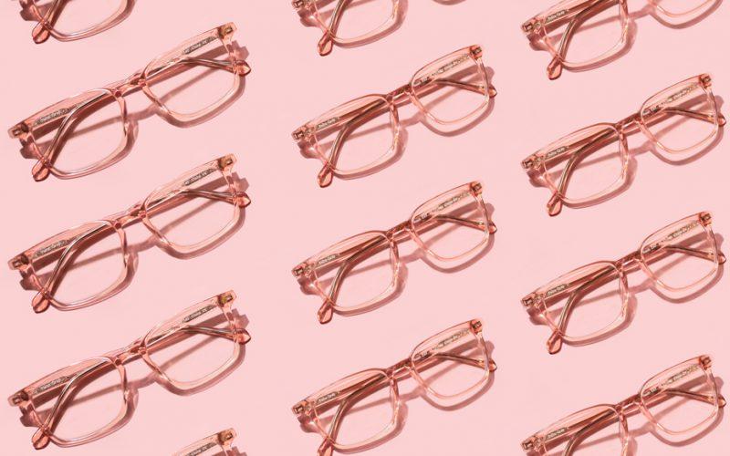Multiple Pink Felix Gray Nash frames on a pink background