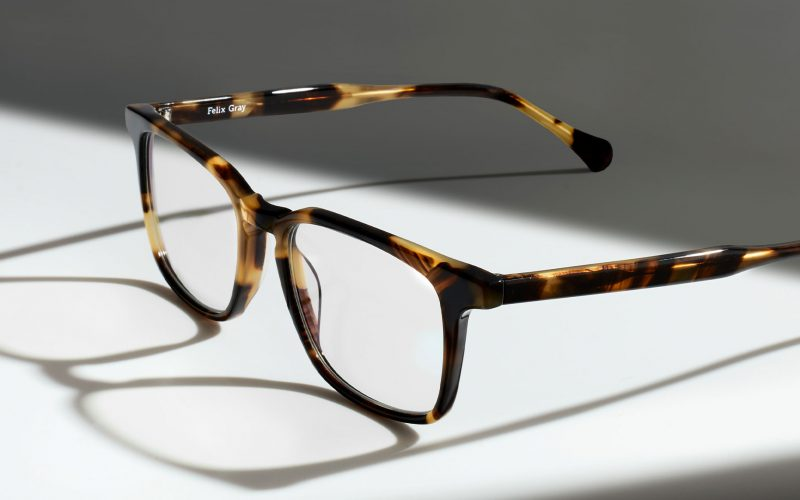 Image of square tortoise eyeglasses